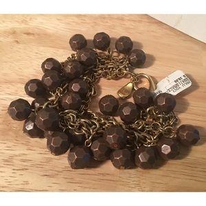 Anthropologie Yochi NY Hammered Copper Bracelet